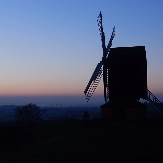 #1HappyYear Day 237: Another cold Christmas night, another sunset and windmill photo... #100HappyDays