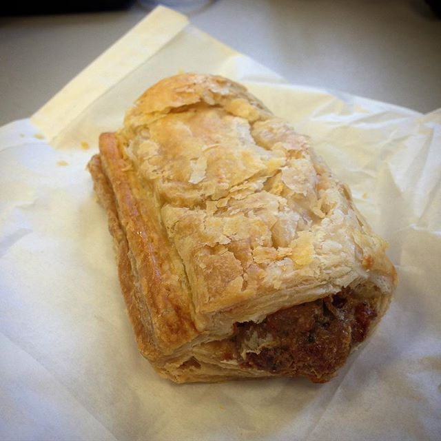 Website migration celebratory sausage roll! Yum! One down, four to go... #websites #migration #work #cms