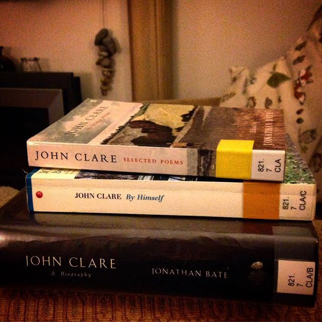 Inspired by @kovesi1's lunchtime lecture and appearance on @BBCInOurTime I visited the @brookeslibrary and checked out some #JohnClare reading... ????