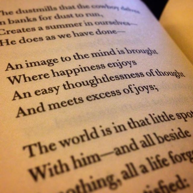 """""""An easy thoughtlessness of thought"""" #JohnClare #PastoralPosy"""