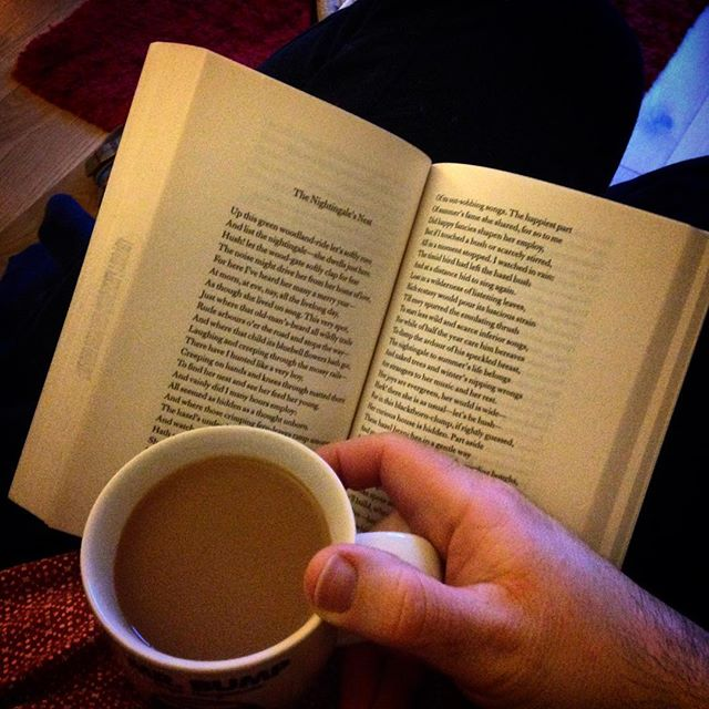 End of the day... #tea #poetry #JohnClare