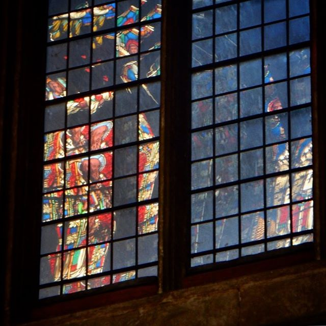 When #reflections in normal glass look like #stainedglass  #ely #cathedral