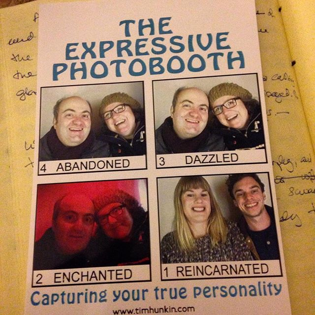I've always said that #PhotoMe booths do weird things to you! Just found this in the back of my notebook from last year… #weirdness