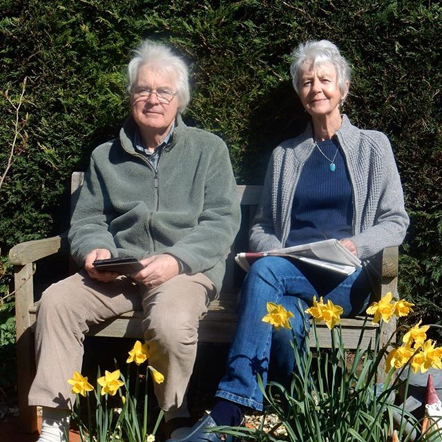 Mum and Dad enjoying the #Spring garden... #MotheringSunday????????????