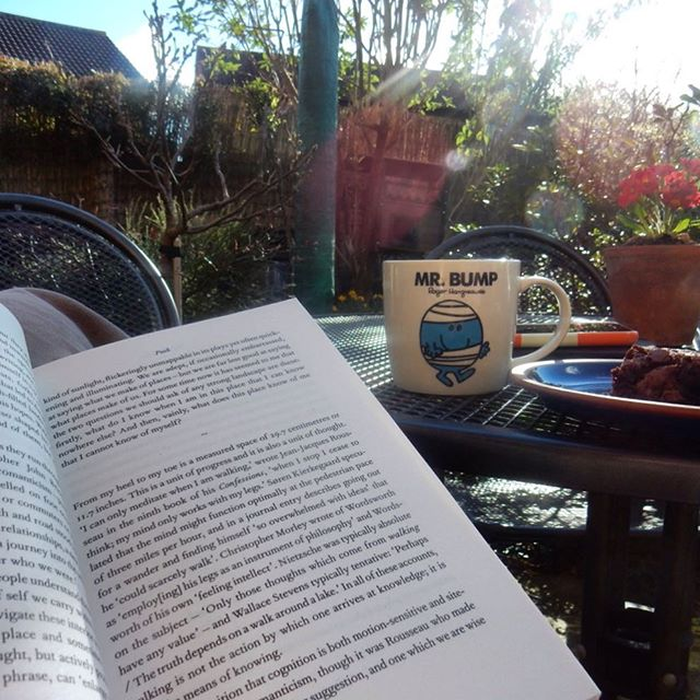 Saturday afternoon reading in the garden... #TheOldWays #robertmacfarlane #amreading #garden #Spring