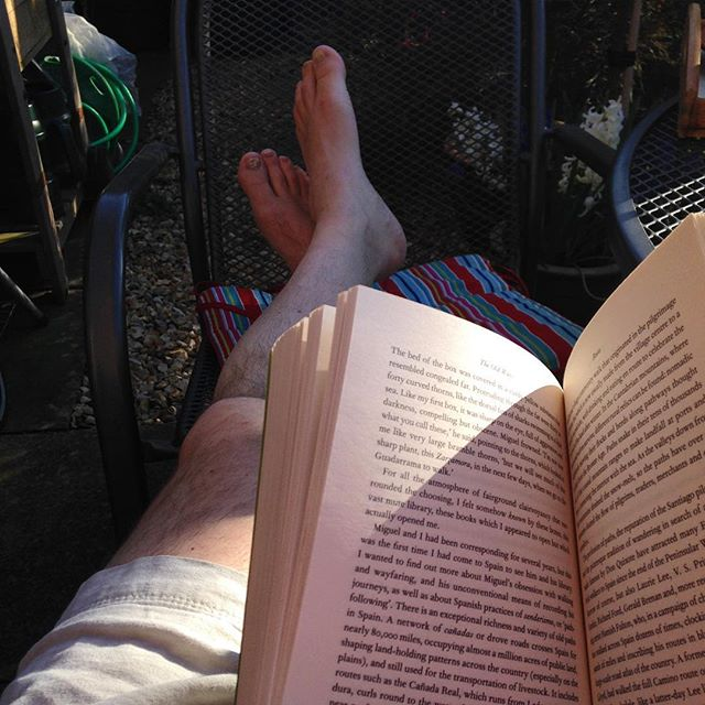 What are these pale things beyond my book? #amreading #sunny☀️ #Spring #TheOldWays