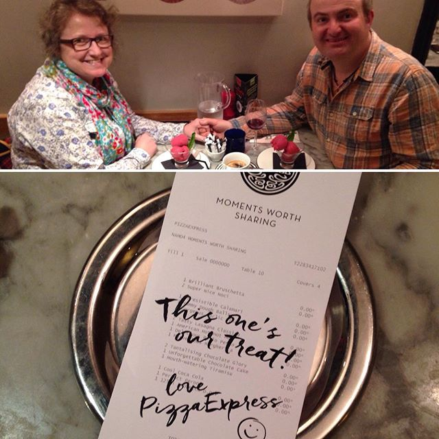 #10Years on from our first date at this very table in @pizzaexpress Bicester we've just had a scrummy #anniversary meal. And they gave us the entire night on the house! ????