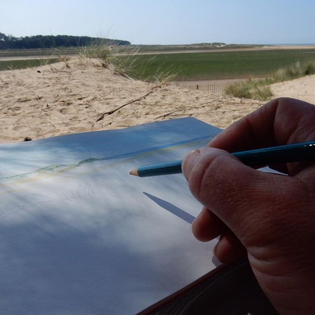 Capturing the moment… #sketching #amdrawing #holidays #beach