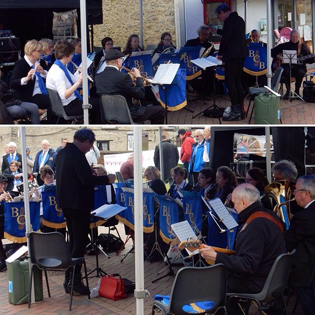 Great to see @bicesterconcert band in action at today's #HealthyBicester event!