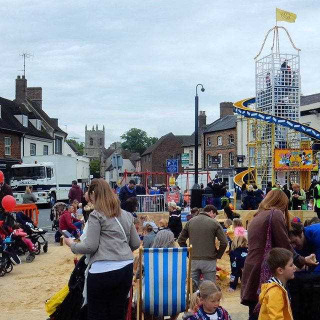 When the seaside comes to landlocked #healthyBicester...