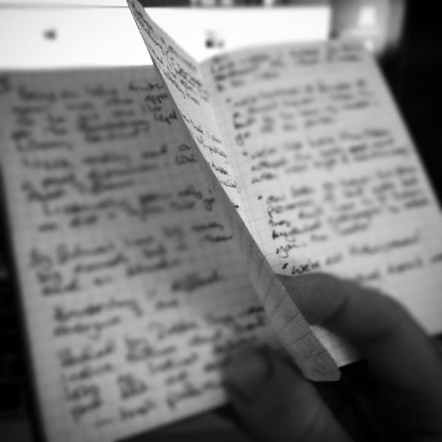 Making notes for tomorrow's #openmic 5 minute presentation at the work #awayday