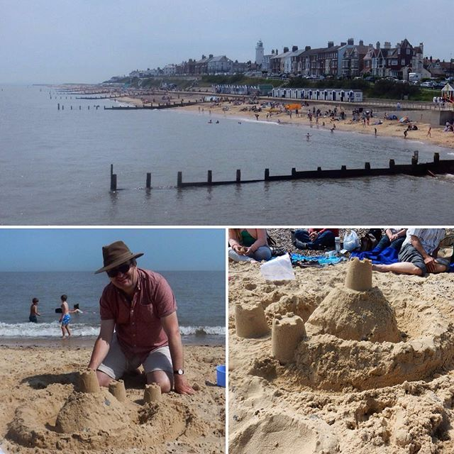 Never too old to make castles in the sand...
