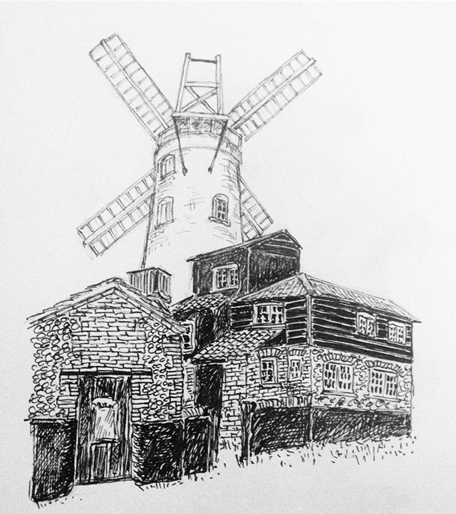 Cley Windmill  #penandink #amdrawing #cleywindmill #cley #windmill #NorthNorfolk