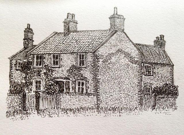 East Runton cottages  #penandink #amdrawing #NorthNorfolk