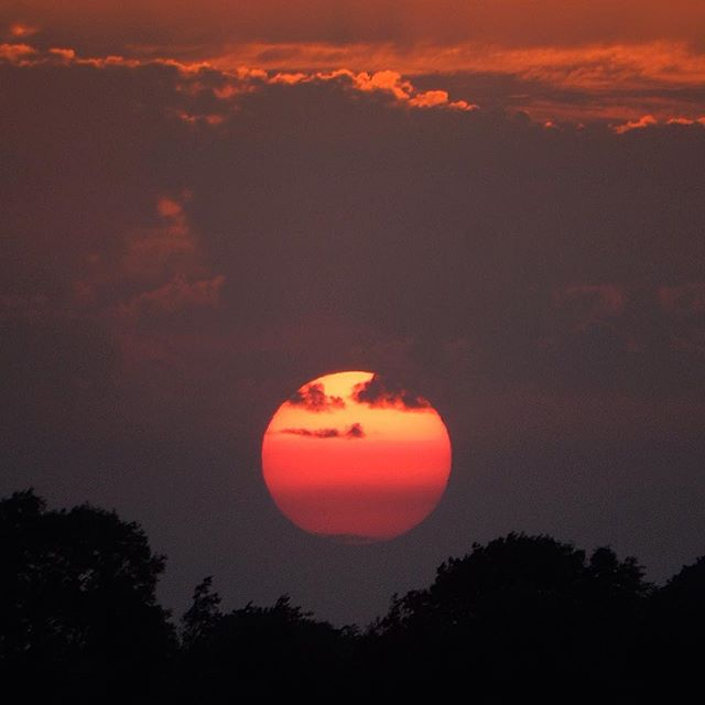 Midsummer's Day sunset…