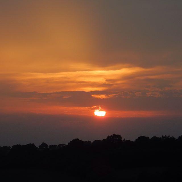 Midsummer sunset over Brill Hill…