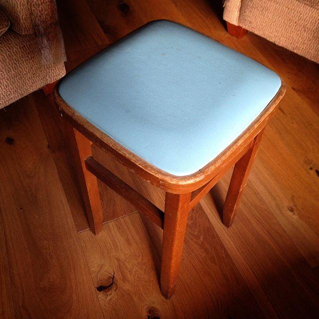 Love my new kitchen stool from the vintage fair!  #vintage #remindsmeofmygrannie