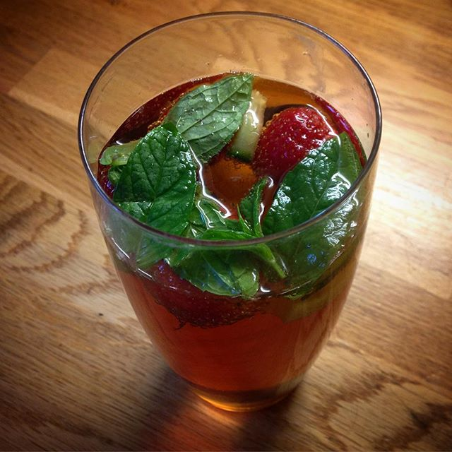 Summer evening in a glass... #pimms