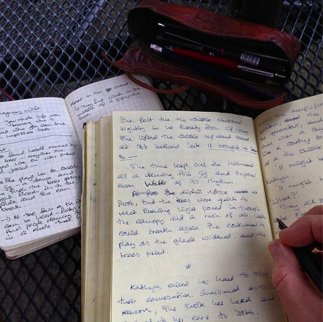 Love it when a page of loose notes made at lunchtime expand to fill three pages of story… #amwriting