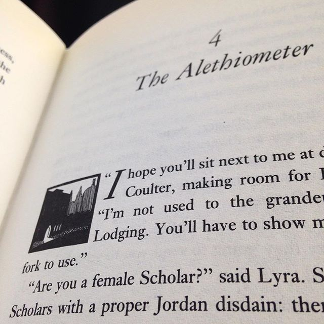 The #alethiomter has to be one of the finest inventions of 20th Century #literature... #amreading #northernlights #philippullman