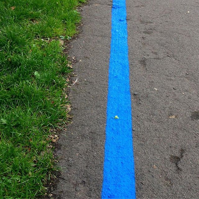 The #BlueLine has come to Southwold… ???????? #healthybicester