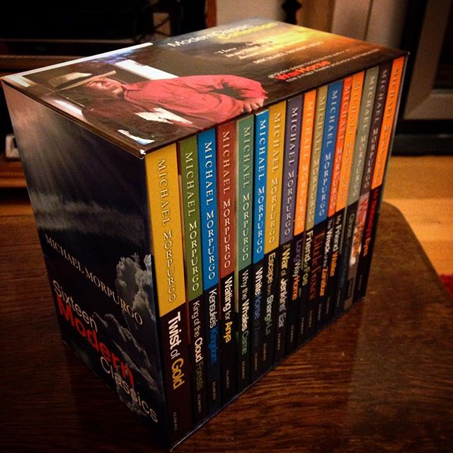 I swore I wouldn't buy anymore books in September! But then I saw this bargain of a boxset of 16 Michael Morpurgo books for a fiver in the charity shop... #books #bookaddict #bookaholic #bookaholicsannonymous #booksofinstagram #ihaveaproblem