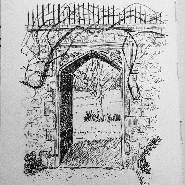 The garden beyond the gate... #inktober #inktober2017 #penandink #penandinkdrawing #amdrawing