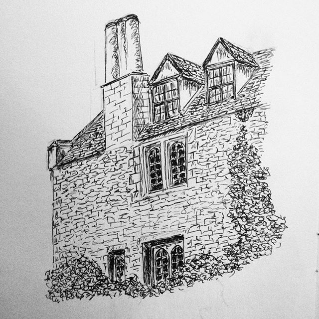 Day 10: Fellows' rooms, Woodiwiss College, Wren Hoe #inktober #inktober2017 #penandink #penandinkdrawing #amdrawing
