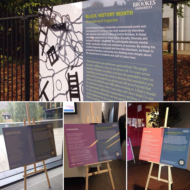 Went looking for the #BHM2017 poetry displays that I have been helping put together for @brookespoetry. I found 4 of the 5.... can you find the rest? https://www.poetry.brookes.ac.uk/projects/black-history-month/ #BlackHistoryMonth @oxfordbrookes #poetry