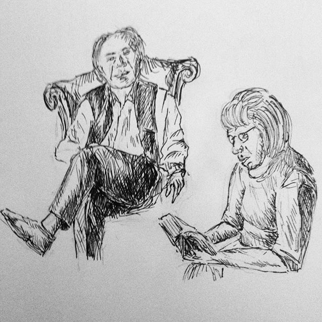 Day 18: Watching Philip Pullman and Anna Maxwell Martin at the live launch of The Book of Dust  #inktober #inktober2017 #philippullman???? #TheBookofDust