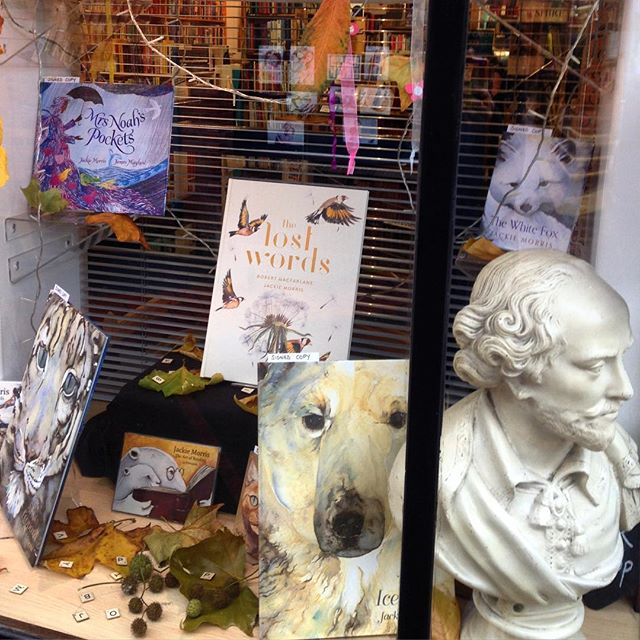 Shop window to die for, and I really, really want that book in the middle for Christmas!