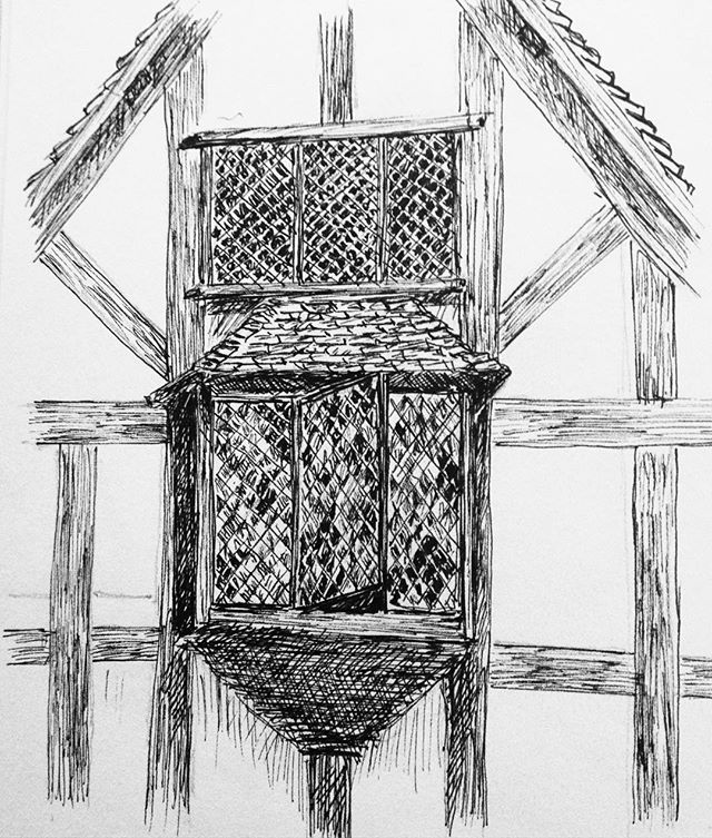 Day 28: #inktober #inktober2017 Shakespeare's birthplace... #penandink #penandinkdrawing #amdrawing