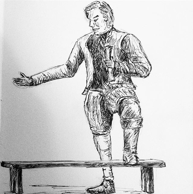 Day 29: #inktober #inktober2017 All the world's a stage… for The Bard of Stratford