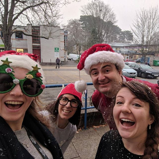 The day it snowed at #work and festivities to see out 2017...