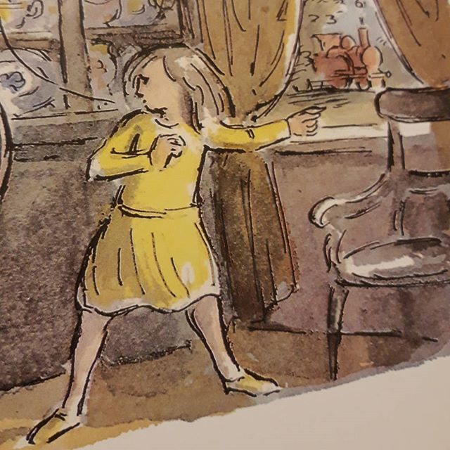 #EdwardArdizzone's illustration of the girl in #TheLittleTrain looks in every way like it could be Sarah having stepped out of the pages of my own #MrTumnal! #books???? #amreading