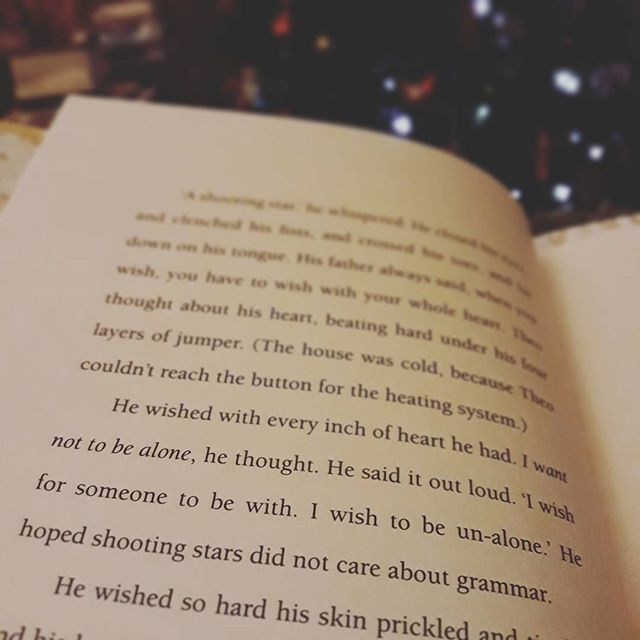 """'I wish for someone to be with.  I wish to be un-alone.' He hoped shooting stars did not care about grammar."" And these words a modern classic is born... #OneChristmasWish @kdbrundell"
