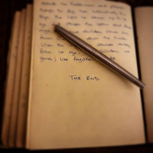 Tonight is a good night. #TheEnd #amwriting #MrTumnal2 #TheImaginaryWife