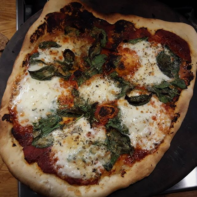 Saturday night is pizza night… #pizza #mozzarella #battlestargalactica