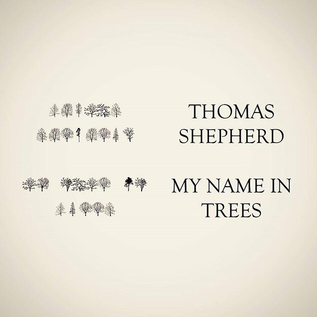 Me. My name in trees… #trees #mynameintrees