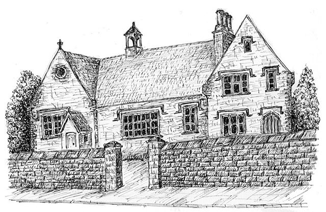 Finished off my drawing of Hawkesbury Upton Primary School, the venue for this year's festival. May get some gift cards printed that people can buy. What do you think?