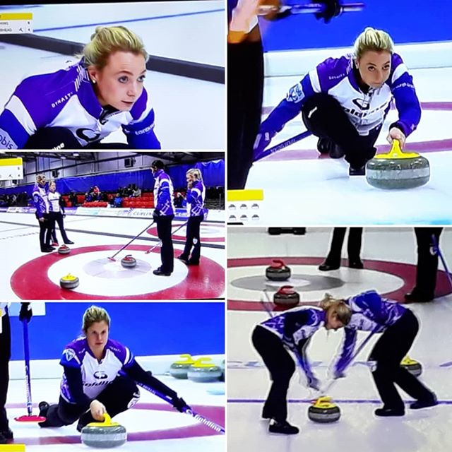 Getting my post-#winterolympics fix of #curling… #teammuirhead @evemuirhead #lovecurling #worldcurlingchampionship