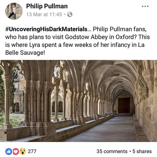 Anyone going too Godstow Abbey expecting to find this is going to be sorely disappointed! It's not ed vn #Oxford!! #misleadingmarketing #PhilipPullman