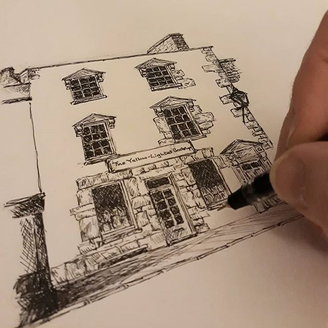 #SundayNightSketching and next up on my bookshop series of drawings... #penandink #illustration #illustratorsofinstagram