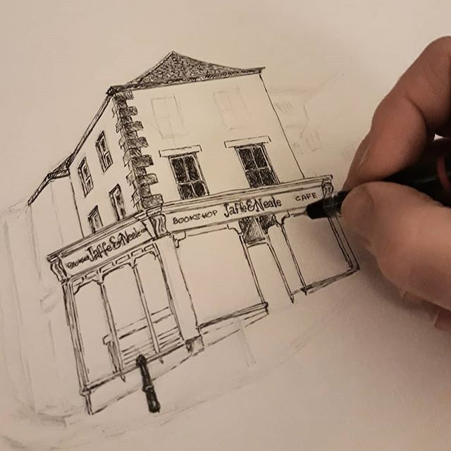 #SaturdayNightDrawing #bookshopsofinstagram #jaffeandneale #chippingnorton @jaffe_and_neale