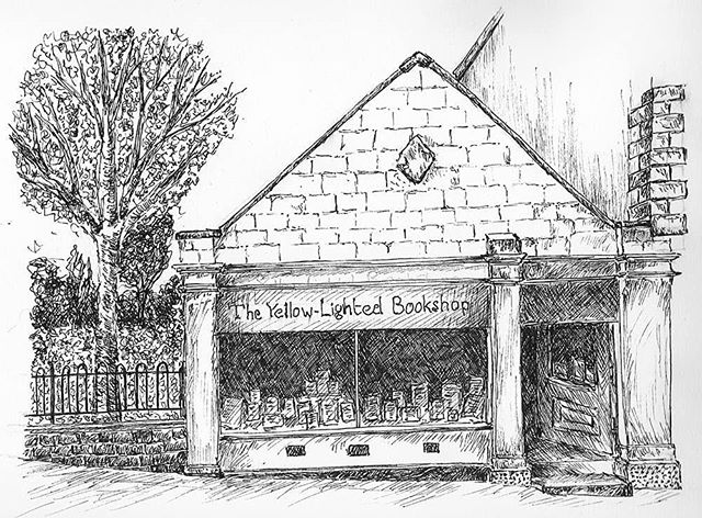 I discovered that the @ylbooks have another shop in Nailsworrg and it looks adorable! Another one to add to the visit list... #FridayNightDrawing #penandink #illustration #illustratorsofinstagram