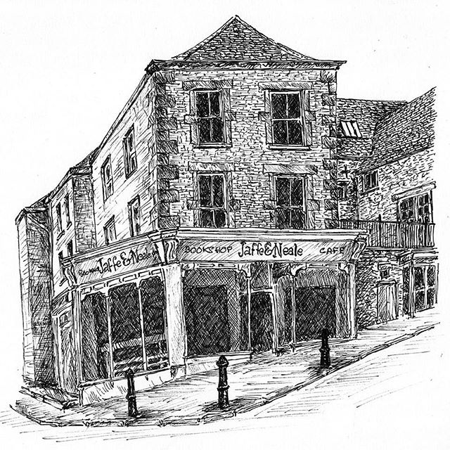 My project to #illustrate the best of British bookshops continues... . #bookloversguidetobookshops #illustration #illustratorsofinstagram