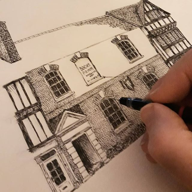 More of the Chaucer's Head Bookshop in Stratford-upon-Avon... #illustration #illustratorsofinstagram #bookloversguidetobookshops