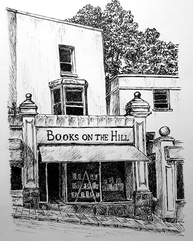 When you're down Clevedon way, look out for some Books on the Hill... . #amillustrating #illustration #bookshopaholic #bookshops #bookshopsofinstagram #bookloversguidetobookshops