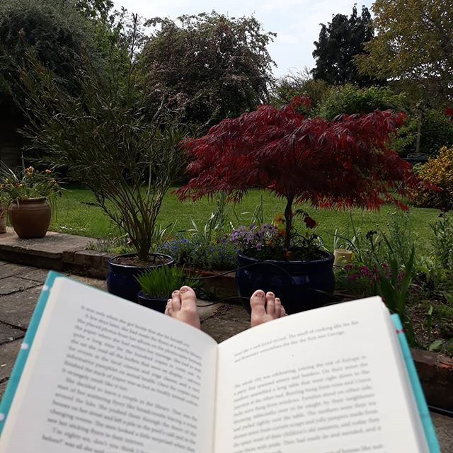 Not a bad spot for some reading. Just need a nice warm pool to sink into now… . #amreading #TheLido @libbypagewrites