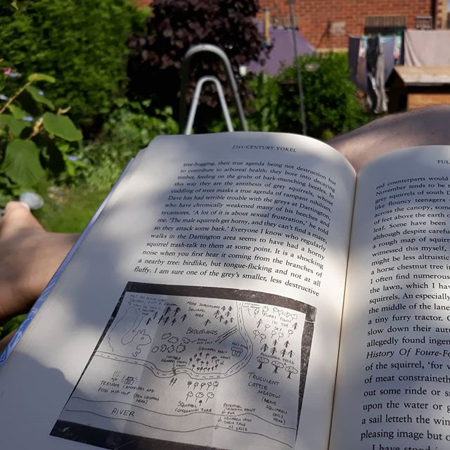 Jobs done. Sunday afternoon in the garden… #amreading